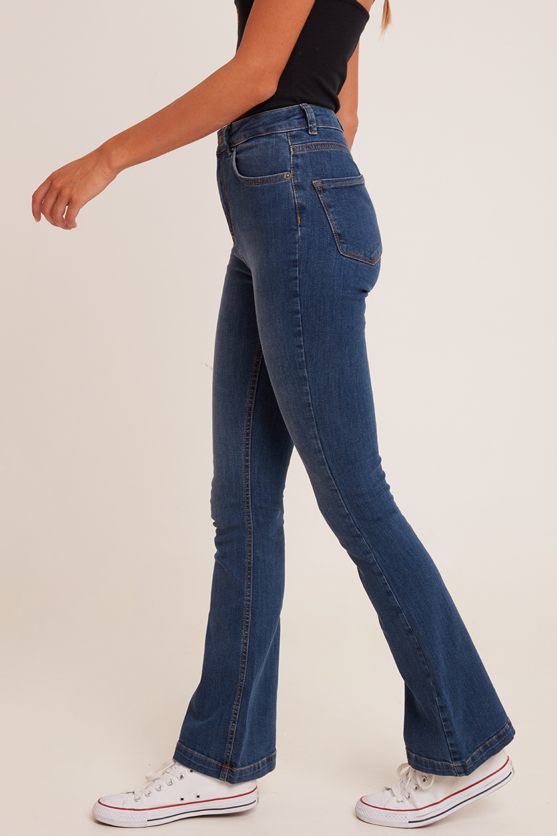 flaired jeans